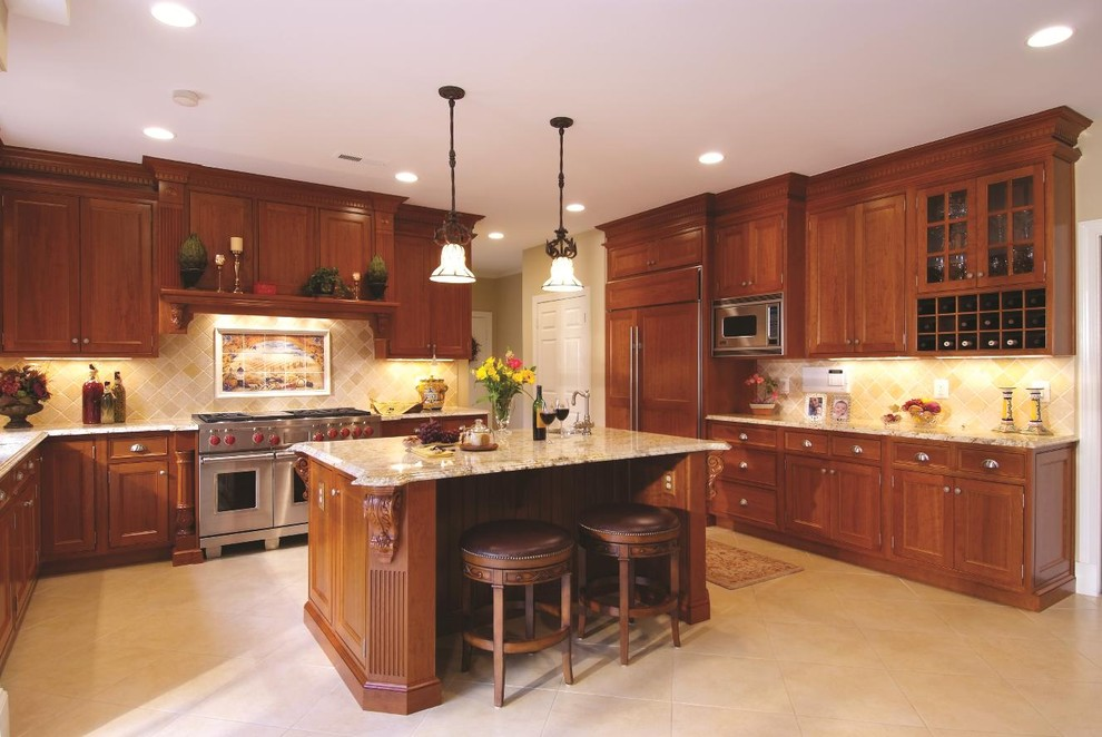 cherry-beadboard-kitchen-cabinets