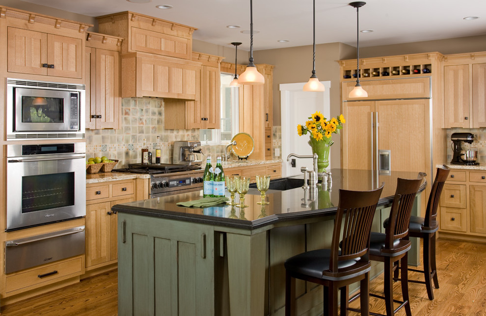 maple-kitchen-cabinets-Kitchen-Traditional-with-board-and-batten-breakfast